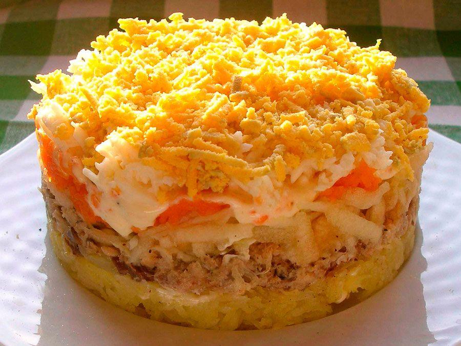 Салат с сардиной