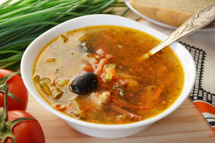 суп солянка сборная мясная рецепт пошаговый