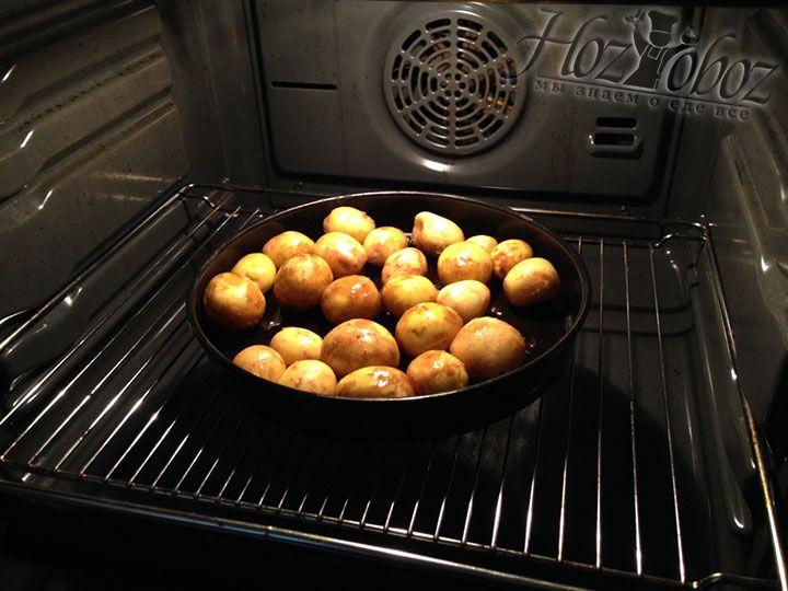 Теперь отправляем картошку в духовку разогретую до 180-200 градусов и запекаем до готовности и образования аппетитной корочки 25-50 минут