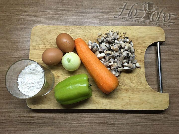 Прежде всего подготовим продукты для начинки
