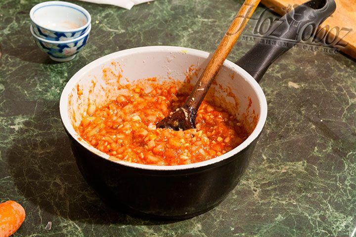 Размешиваем готовый соус до однородности