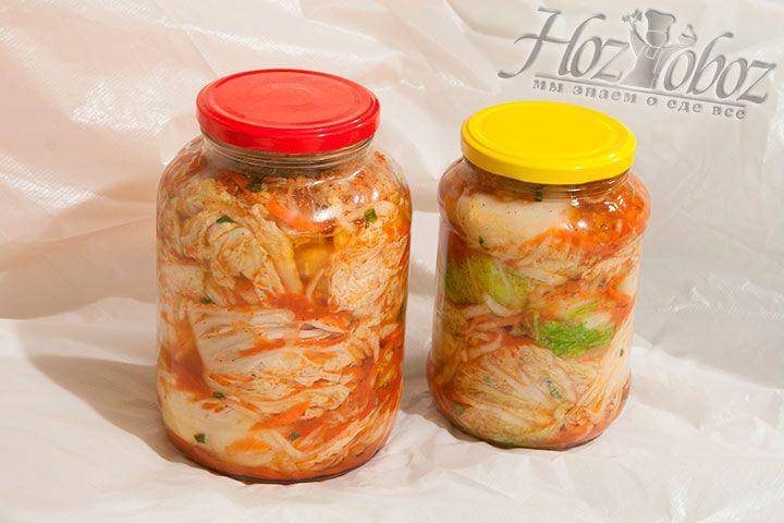 Кимчи после двухдневной ферментации