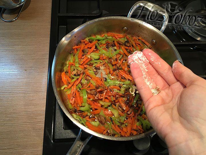 Слегка припущенные овощи солим