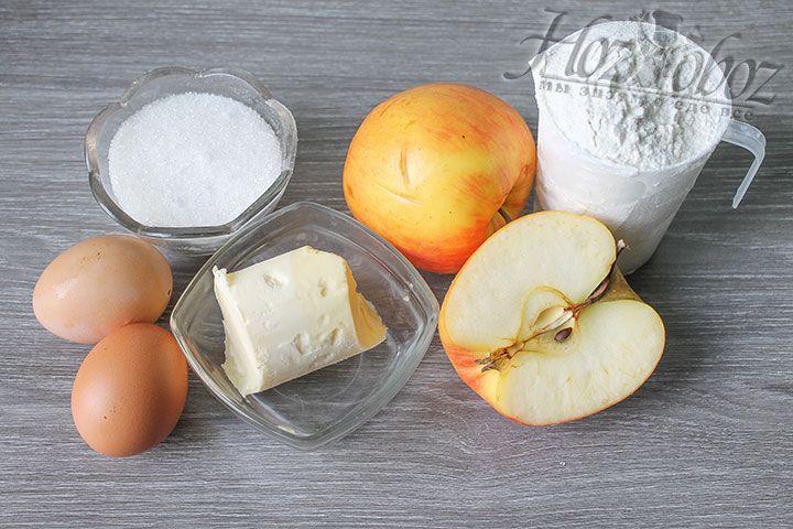 Ингредиенты для пирога возьмем самые обычные, легкодоступные