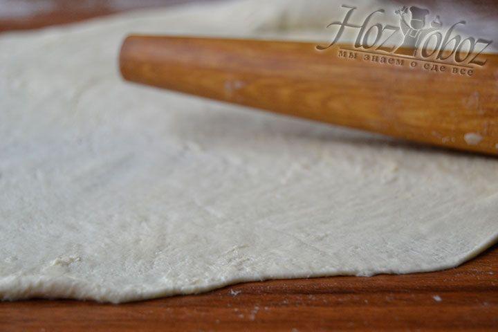 Сделайте тонкое тесто