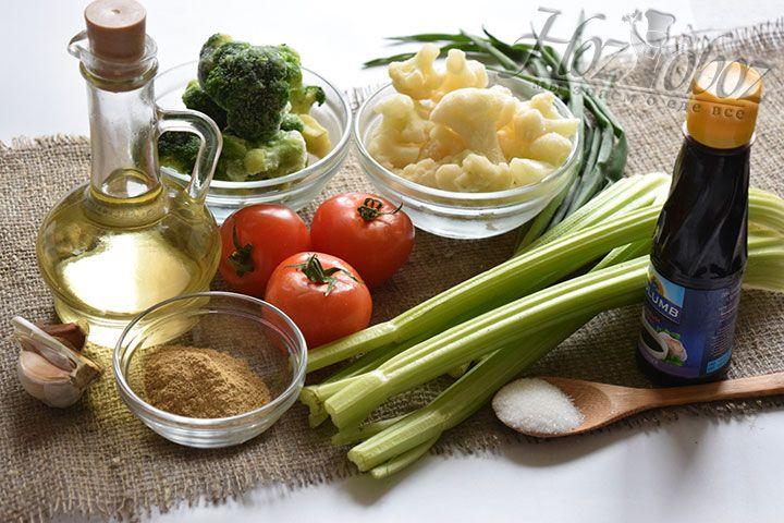 Предварительно подготовим необходимые продукты, не забыв их тщательно помыть