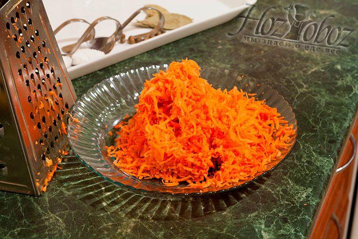 Крупно натрём морковь