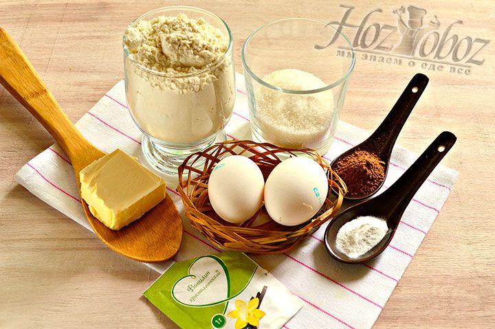 Ингредиенты для шоколадно-ванильных пряников