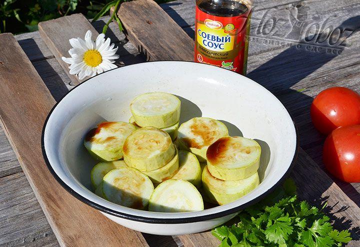 Замаринуем кабачки в соевом соусе