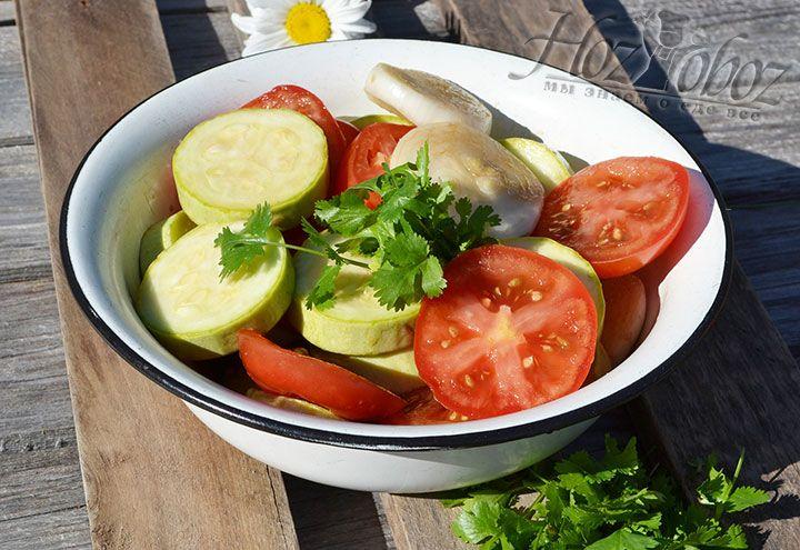 Оставим маринад с овощами для пропитывания