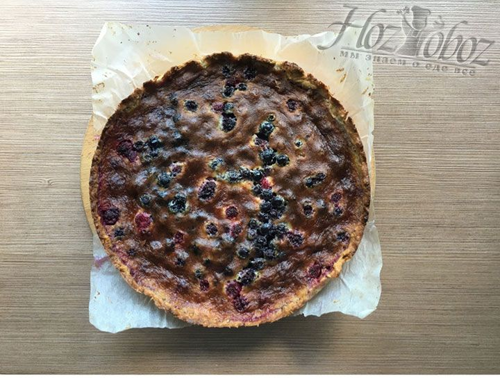 Остывший пирог вынем из формы
