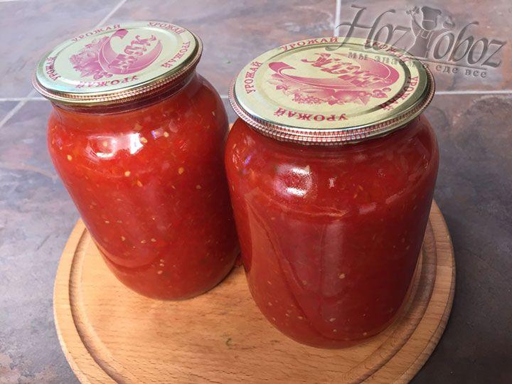 Вот и готов наш соус из помидор на зиму - его можно поставить в прохладное место и использовать как основу для многих кулинарных шедевров. Приятных всем экспериментов