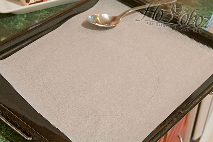 Начертим круг на пекарской бумаге