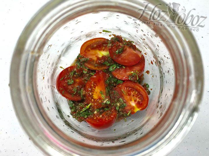 Основу рецепта помидоров по-крейски вы можете наблюдать с этого фото
