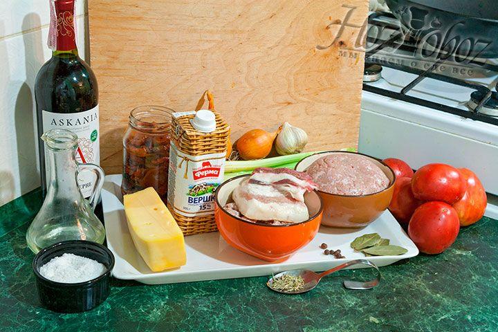 Соберем для соуса все ингредиенты по списку