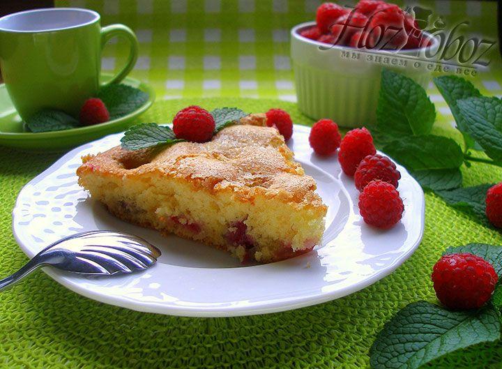 Ну как вам фото пирога малиной? Выглядит очень аппетитно!