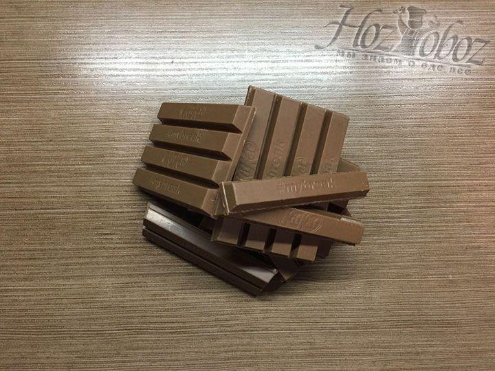 Разделим KitKat на отдельные палочки