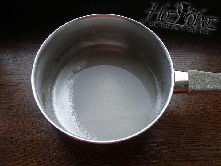 Смешиваем воду и сахар