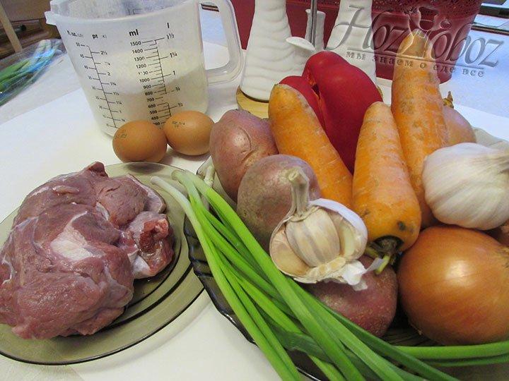 Для начала займемся подготовкой ингредиентов для блюда