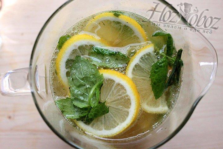 Домашний лимонад перельем в графин