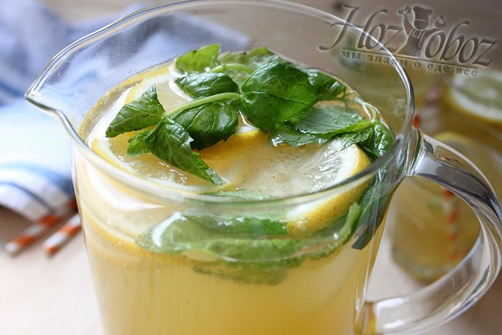 Настаиваем лимонад пару часов перед подачей