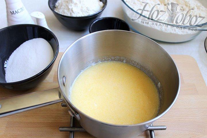 Растопим в молоке сливочное масло