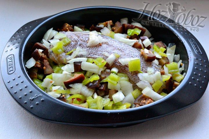 Ввожу овощную часть блюда