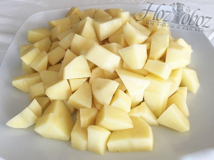 Теперь время картошки, почистим, порежем