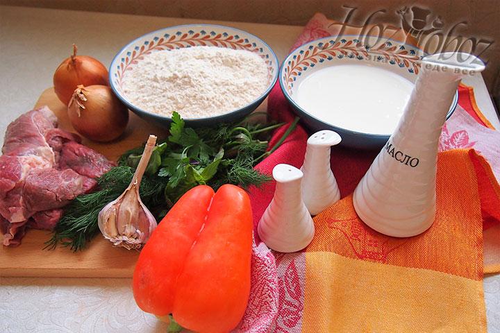 Вот такие ингредиенты участвуют в создании армянской пиццы