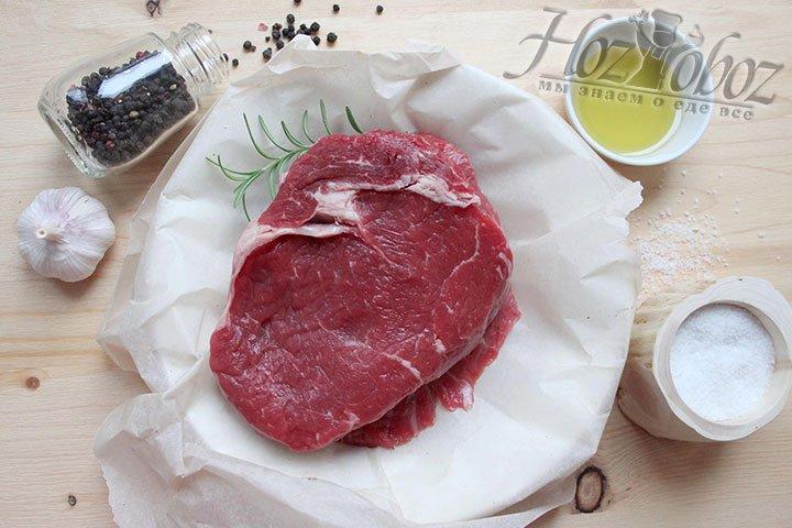 Ингредиенты для приготовления стейка рибай
