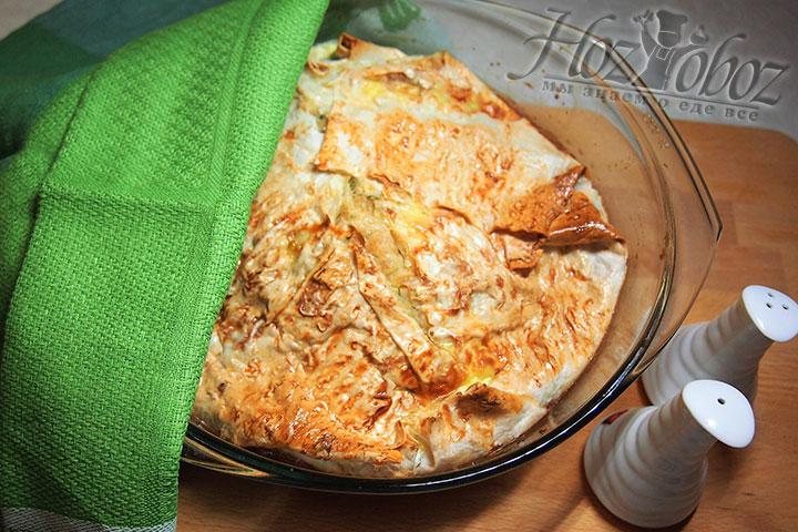 Сырный пирог вкусен как в горячем, так и в холодном виде