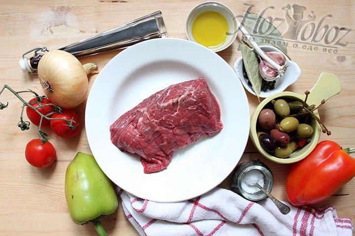 Набор продуктов для салата-закуски