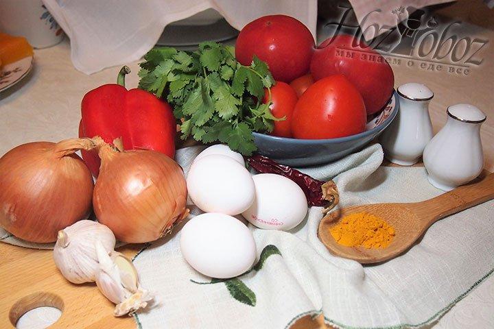 В приготовлении блюда участвуют такие ингредиенты