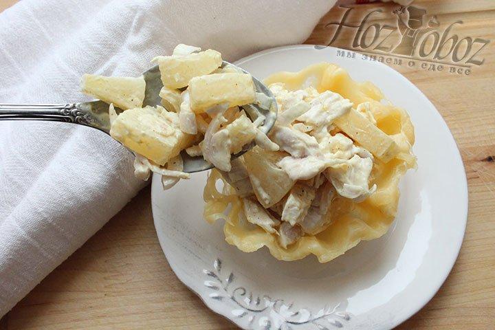 Наполнение салатом