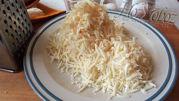 Крупно натрем сыр