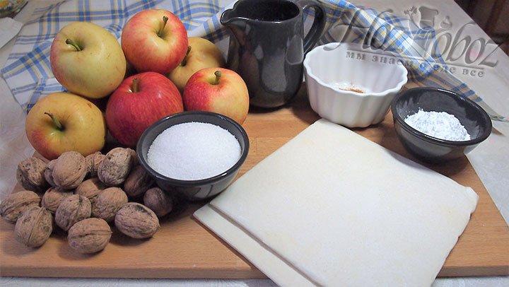 Для розочек приготовим следующие продукты