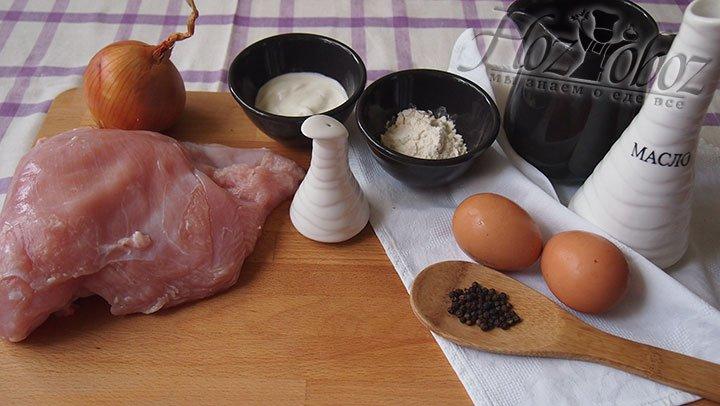 Подготовим необходимые продукты для рубленных оладьев