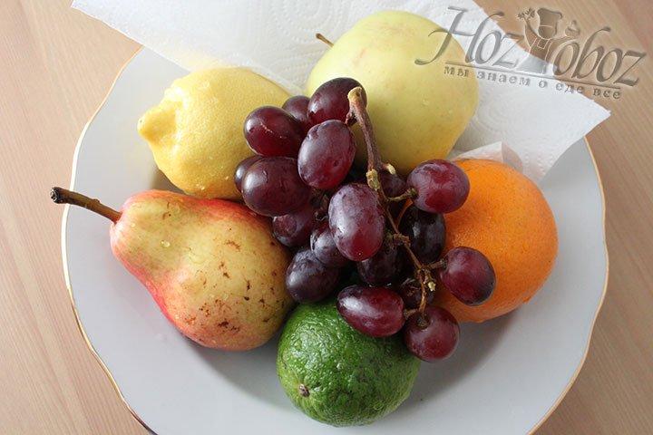 Обсушиваем фрукты