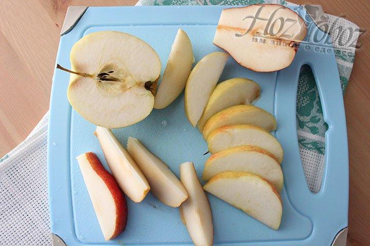Нарезка остальных фруктов