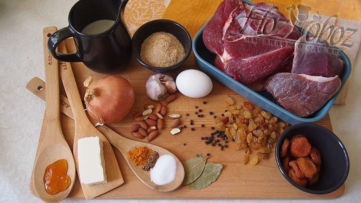 Для мясного боботи потребуются такие продукты