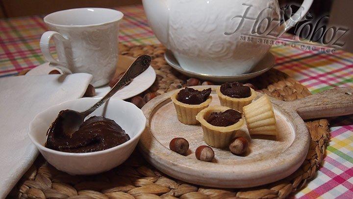Через два часа шоколадную пасту можно подавать к чаю