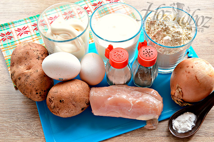 Подготавливаем для курника ингредиенты