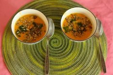 Морковный суп пюре