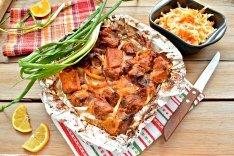 Шашлык из свинины в фольге