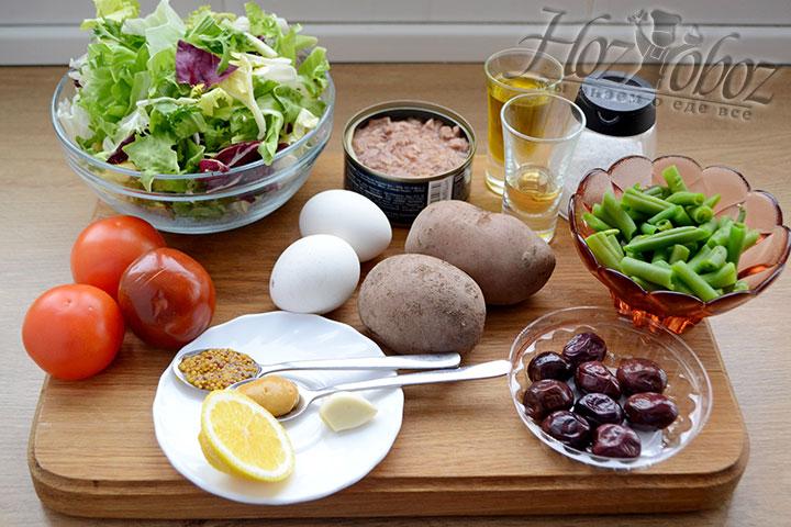 Прежде всего приготовим необходимые продукты