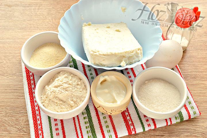 Подготавливаем ингредиенты для сырников