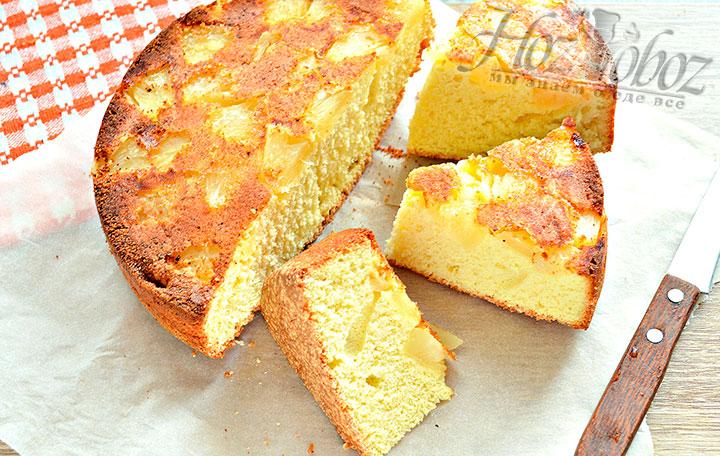 Воздушный пирог с консервированным ананасом - рецепт пошаговый с фото