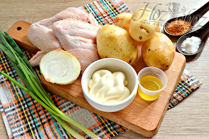 Подготовка продуктов для блюда
