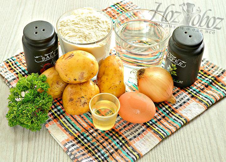 Набор продуктов для вареников.