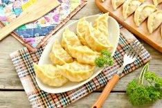 Вареники на пару с картофелем